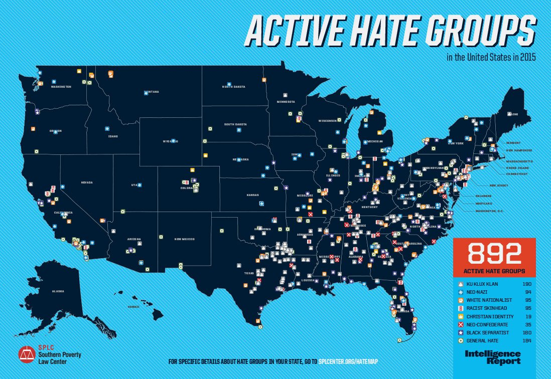 Hate Groups   The Daily Dispatch