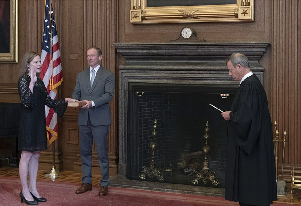 Barrett Takes the Oath
