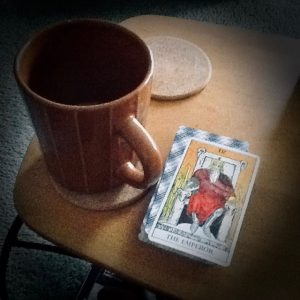 Tarot Deck and Coffee Mug